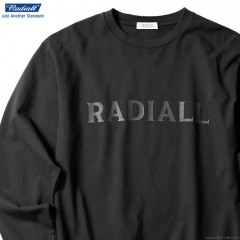 RADIALL LOGOTYPE - CREW NECK T-SHIRT L/S (BLACK)