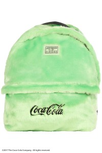 【TIME SALE 60%OFF】Coca Cola Fur Backpack (L) / NEON GREEN