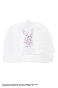 【SALE 30%OFF】Rhinestone Shiny Jersey 5Panel Cap / WHITE