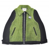 【40%OFF期間限定5/31まで】【2XL】WEIRDO YETI FRIENDS - JACKET (BLACK×GREEN)