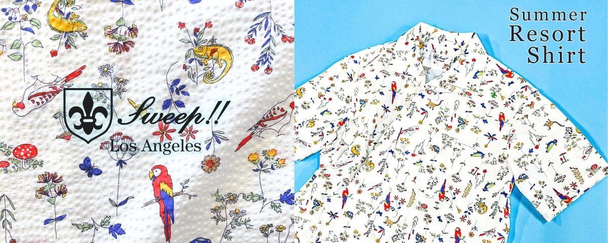 Sweep!!LosAngeles 3 Button Down Shirt